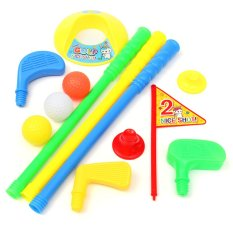 Giá Bán Golf Set Putter Plastic 3 Balls 2 Tees 3 Golf Club Flag Golf Hole Kids Toy Intl Nguyên Oem