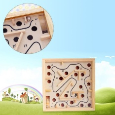 Hình ảnh Great Fun Wooden Labyrinth Board Ball Puzzle Game Children Educational Toys For Kids Child - intl