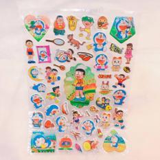 Hình ảnh Hình dán - Happy Sticker Doremon và Nobita ôm mèo , Xuka, Xeko và Chaien nổi ngộ nghĩnh , đáng yêu - 16STKDOQ0204