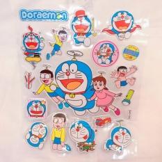 Hình ảnh Hình dán - Happy Sticker Doremon và Nobita , Xuka chong chóng bay kim tuyến nổi ngộ nghĩnh , đáng yêu - 16STKDO0454