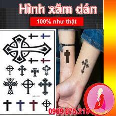 Hình ảnh Hình xăm dán tattoo cao cấp - nghệ thuật cho nam nữ - thập giá