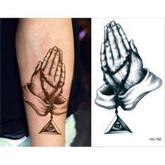 Hình ảnh Hình Xăm Dán Tattoo Chắp Tay