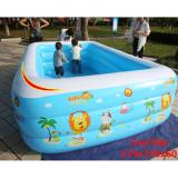 Giá Bán Hồ Bơi Trẻ Em Bể Bơi Phao 3 Tầng Chữ Nhật 210X150X60 Chất Liệu Cao Cấp Bền Đẹp Tặng Bơm Bể Bơi Mới Nhất