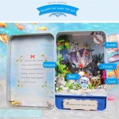 Hình ảnh Hoomeda E005 Thiên Đường Đã Mất Dưới Biển DIY Nhà Búp Bê Bộ Hộp Nhà Hát-quốc tế