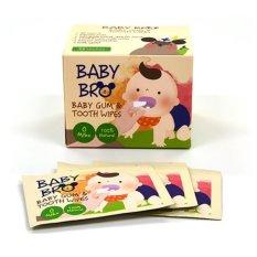 Hộp 25 khăn ướt lau răng miệng, rơ lưỡi cho bé BaBy Bro Made in Korea