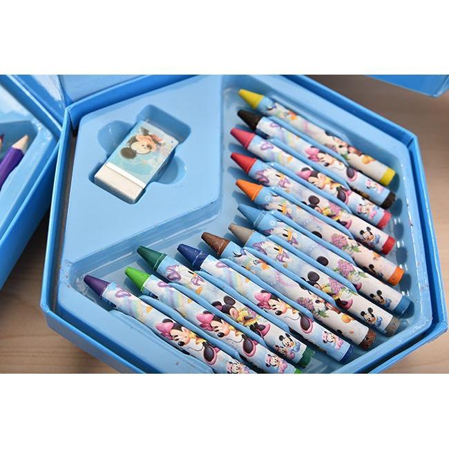 Hình ảnh Hộp bút chì màu xoay 4 tầng 46 món cho bé