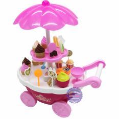 Hình ảnh Hộp đồ chơi xe đẩy kem dùng pin có nhạc đèn