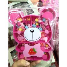 Hình ảnh Hộp xâu vòng gấu, lợn cute hồng