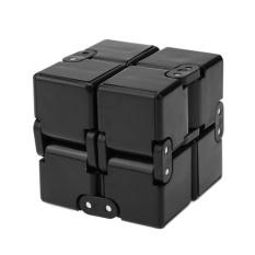 Hình ảnh Infinity Cube Fidget Cube Anti Stress Magic Door Hand Out Puzzle Game Toys(Black) - intl
