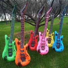 Hình ảnh Inflatable Instruments Party Favors Photo Booth Props Guitar PVC Material Toy - intl