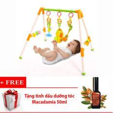 Hình ảnh Kệ chữ A sinh động có nhạc cho bé + Tặng tinh dầu dưỡng tóc Macadamia 50ml