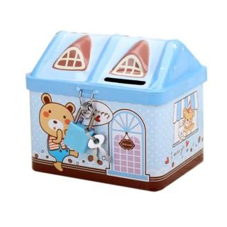 Két sắt mini hình nhà, dạy bé cách tiết kiệm (màu xanh) thumbnail