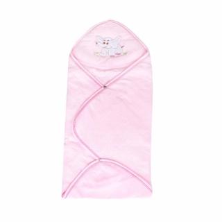 Khăn Trùm Ngủ Thêu Thú Vải Mềm 2 Lớp Giữ Ấm Cho Bé TH mizulife(hồng) thumbnail