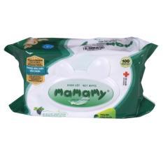 Khăn ướt vệ sinh Mamamy 100 tờ có nắp, không mùi