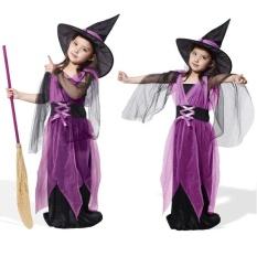 Hình ảnh Trẻ em Bé Gái Halloween Phù Thủy Đầm + Nón Ngày Trẻ Em Công Chúa Đầm Dự Tiệc Carnival Trang phục Hóa Trang For 6-7Years-quốc tế