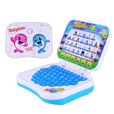 Hình ảnh Kids Folding Multi-functional Early Educational English Letter Math Learning Music Laptop Computer Machine Toy for 3+ Years Old Kids Children - intl