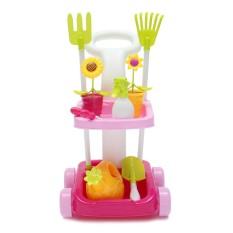 Hình ảnh Kids Pretend Play Gardening Trolley Set Toddler Tools Toy/Game Garden/Plants - intl