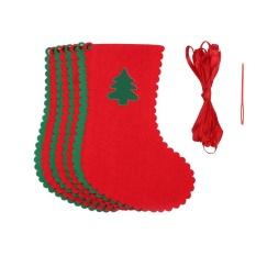 Hình ảnh Kobwa 10 cái Quà Tặng Giáng Sinh Hàng Cửa Sổ Cây Đảng Trang Trí Nhà Cửa Kéo Lá Cờ Xmas biểu Ngữ Vòng Hoa Trang Trí Địa Điểm Tổ Chức, trigonal-quốc tế