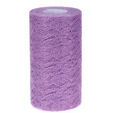 Hình ảnh Lace Tulle Roll Table Chair Decor Skirt Drape15cm*25yard(Lavender) - intl