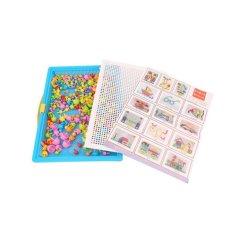 Hình ảnh LALANG 296pcs Creative Peg Board Mushroom Nails Jigsaw Puzzle Educational Toys - intl