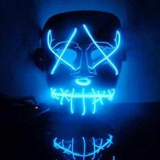 Hình ảnh ĐÈN LED Sáng Nhấp Nháy Mặt Nạ Skull Đồng Halloween Cosplay-quốc tế
