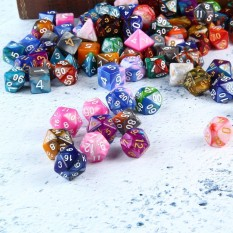 Hình ảnh leegoal 105 Polyhedral Dice Set With Velvet Dice Bag For Dungeons And Dragons DND RPG MTG Games - intl