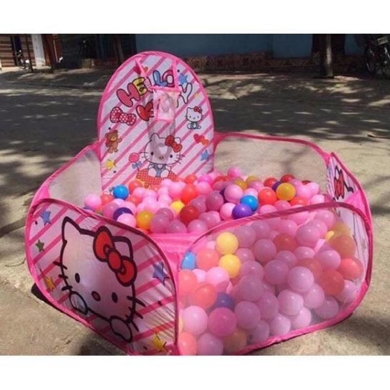 Lều bóng dễ thương kèm 100 quả bóng nhựa cho bé