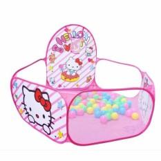 Hình ảnh Lều bóng hồng dễ thương kèm 200 quả bóng nhựa cho bé