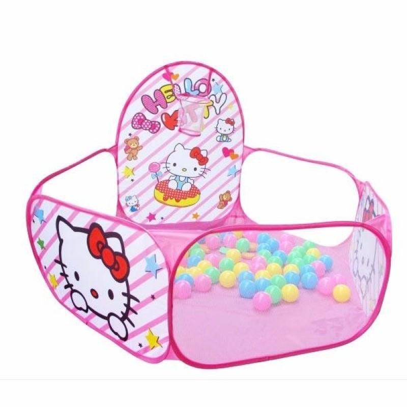 Lều bóng hồng dễ thương kèm 200 quả bóng nhựa cho bé