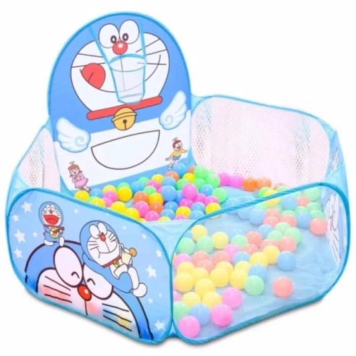 Lều bóng rổ đoremon cho bé + Tặng kèm 100 quả bóng - MS.LBDRM--GD009