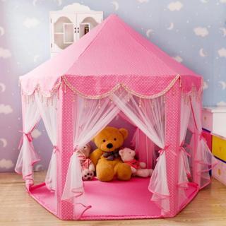 Lều cho bé Lều cắm trại Lều công chúa lục giác dành cho bé vui chơi thumbnail