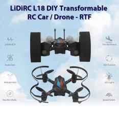 Hình ảnh LIDIRC L18 Drone 2.4 gam 6CH 6 Trục Mini RC Con Quay Hồi Chuyển Máy Bay Không Lực Không Camera-quốc tế