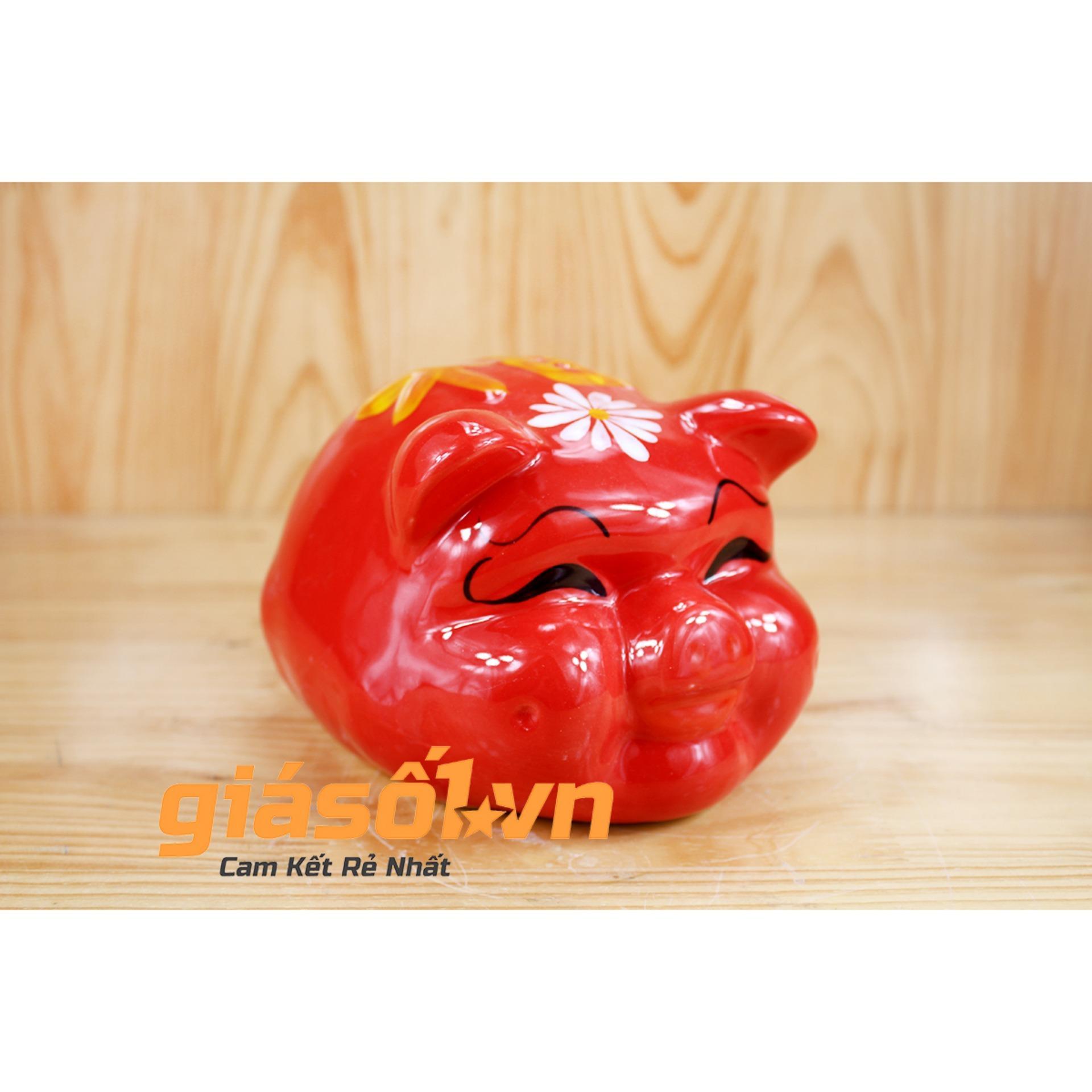 Hình ảnh Lợn sứ tiết kiệm ngộ nghĩnh Bát Tràng (Nhiều màu)