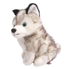 Hình ảnh Đáng yêu Mô Phỏng Chó Husky Nhồi bông Sang Trọng Đồ Chơi Quà Tặng 18 cm-quốc tế