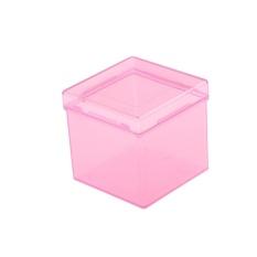 Hình ảnh Khối Đóng Gói Trong Suốt Nhựa Xếp Hình Hộp Tiết Kiệm Giá Đỡ Ngoài 3x3x3-Màu Hồng-intl