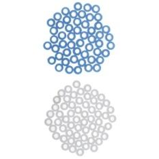 Hình ảnh MagiDeal 100pcs Plastic Gasket Shaft Sleeve Fixed Gear for Model Making Blue/White - intl