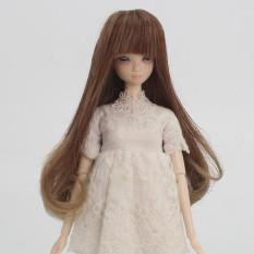 Hình ảnh MagiDeal 15cm Dolls Full Head Straight Hair Wig for Barbie Doll DIY Making #6 - intl