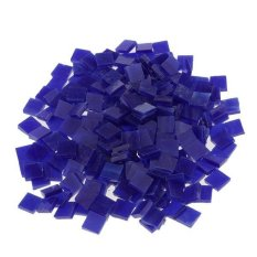 Hình ảnh MagiDeal 250 Pieces Vitreous Glass Mosaic Tiles for Arts DIY Crafts Dark blue - intl
