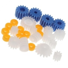 Hình ảnh MagiDeal 26Pieces Set Assorted Plastic Shaft Worn Gear DIY Kit - intl