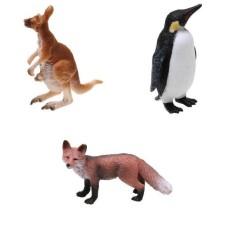Hình ảnh MagiDeal 3x Thực Tế Kangaroo Chim Cánh Cụt Cáo Động Vật Hoang Dã Hình Mô Hình Đồ Chơi Trẻ Em Quà Tặng-intl