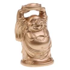 Hình ảnh MagiDeal Nhựa Vàng Phật Di Lặc Cưới Tên Địa Danh Để Thẻ Trang Trí Bàn Ủng Hộ-quốc tế