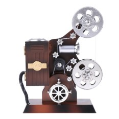 Hình ảnh MagiDeal Retro Film Projector Wind Up Music Box Clockwork Toy Desktop Decor Supplies - intl