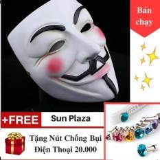 Hình ảnh Mặt Nạ Hacker Tặng Nút chống bụi Mặt Nạ Anonymous Chương trình mua 1 tặng 1 cực hot Sun Plaza