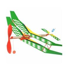 Hình ảnh Máy bay 2 tầng cánh tự lắp ráp, bay bằng dây thun (dây chun), thân gỗ, loại cao cấp (màu sắc ngẫu nhiên)