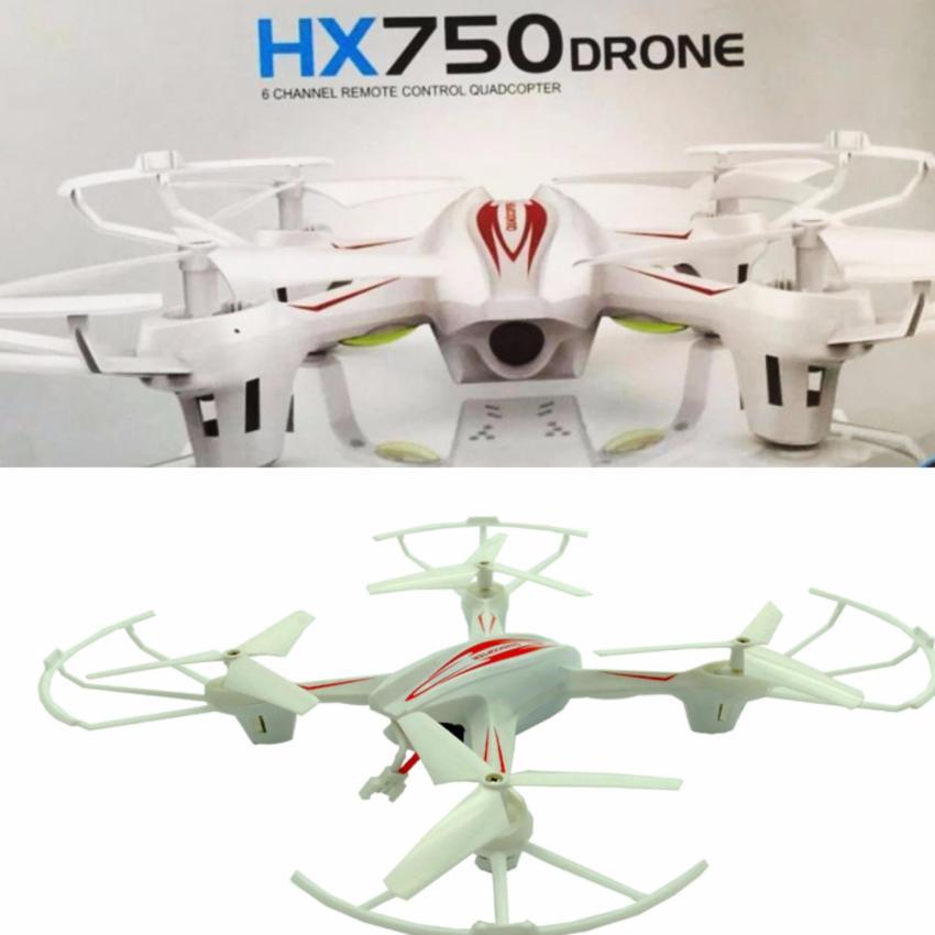 Hình ảnh Máy bay điều khiển HX750Drone 6 kênh điều khiển (White )