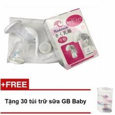 Máy hút sữa bằng tay Kichilachi tặng kèm 30 túi trữ sữa GB Baby