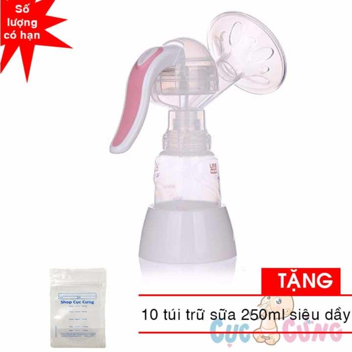 Máy hút sữa bằng tay Mezzo + Unimom (Hàn Quốc) có maxa silicone - UM880052 TẶNG 10 túi trữ sữa...