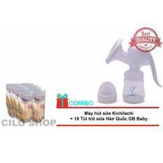 Mua May Hut Sữa Cầm Tay Kichilachi Tặng 10 Tui Trữ Sữa Han Quốc Gb Baby Rẻ