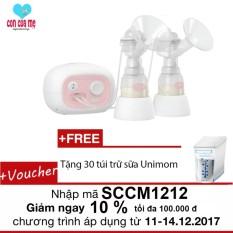 Giá Bán May Hut Sữa Điện Đoi Unimom Forte Co Mat Xa Silicone Trắng Tặng 30 Tui Trữ Sữa Unimom Nguyên