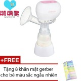May Hut Sữa Mẹ Điện Tử Unimom K Pop 871098 Trắng Tặng 8 Khăn Mặt Gerber Cho Be Mau Sắc Ngẫu Nhien Hà Nội
